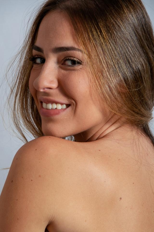 Atriz modelo Giovanna D'Amico